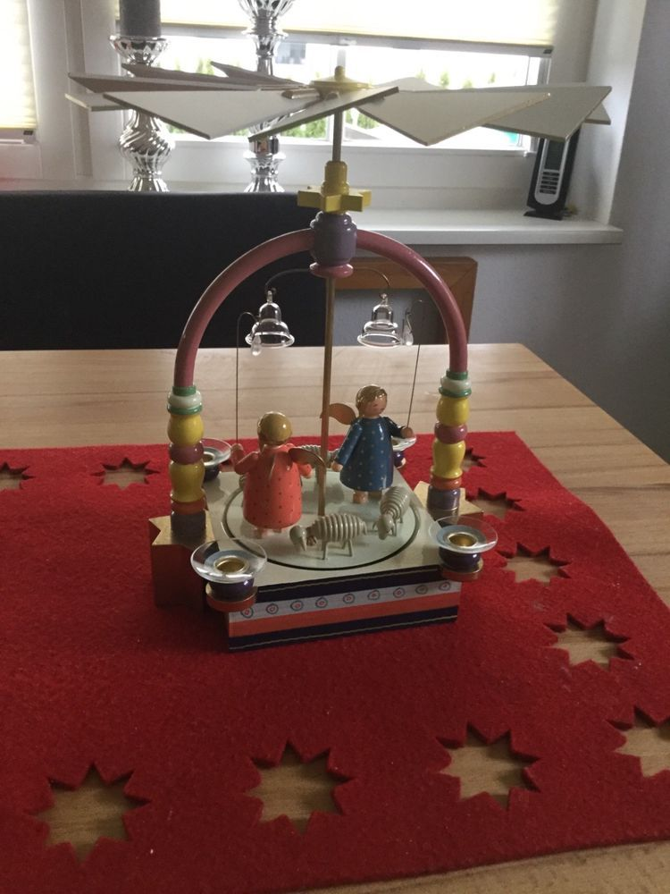 Wendt Und Kuhn Pyramide Mit Engel Bunt Selten Ebay Christmas In Germany Vintage Christmas Whimsy