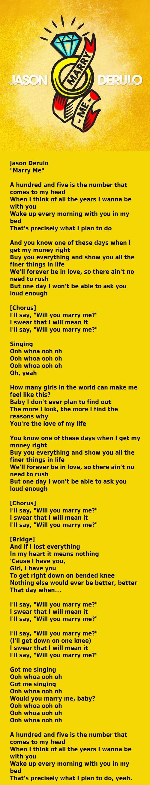 Jason Derulo Marry Me Jason Derulo Music Quotes Lyrics Jason