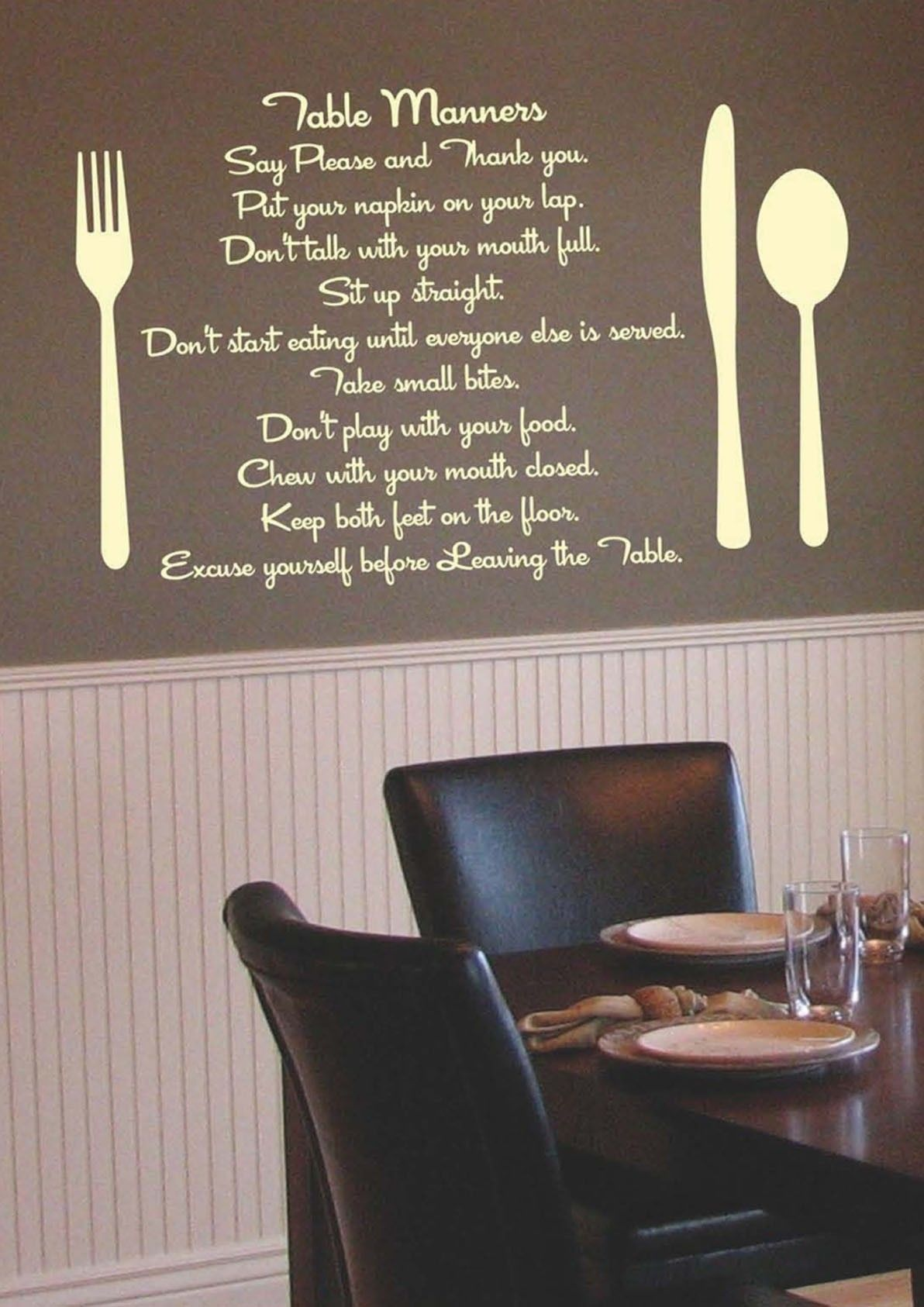 Kitchen Wall Decals | Home / Decal Stickers / Table Manners Kitchen ...