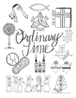 catholic ordinary time coloring pages - photo#7