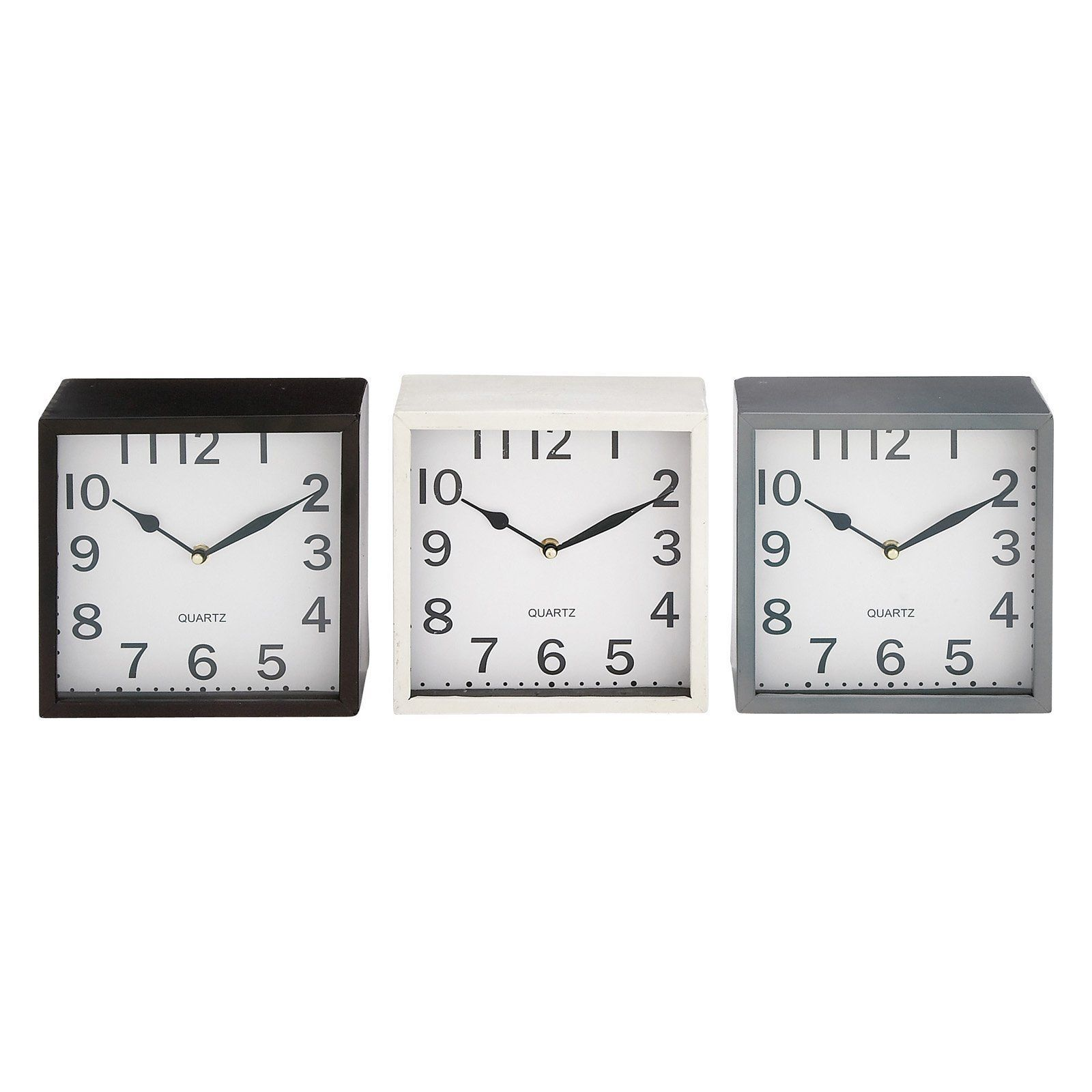 DecMode Square Metal Desktop Clock - Set of 3 - 92271 | Products ...
