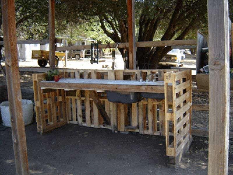 Wie Man Eine Arbeitsecke Für Ihren Hof Mit Paletten Bauen ... Ideen Bar Bauen