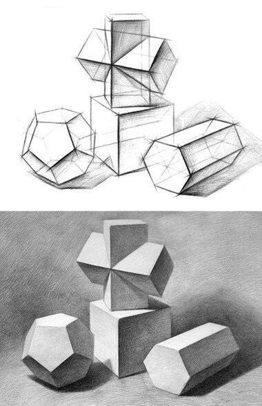 40 geometrische formzeichnungsideen #drawingideas