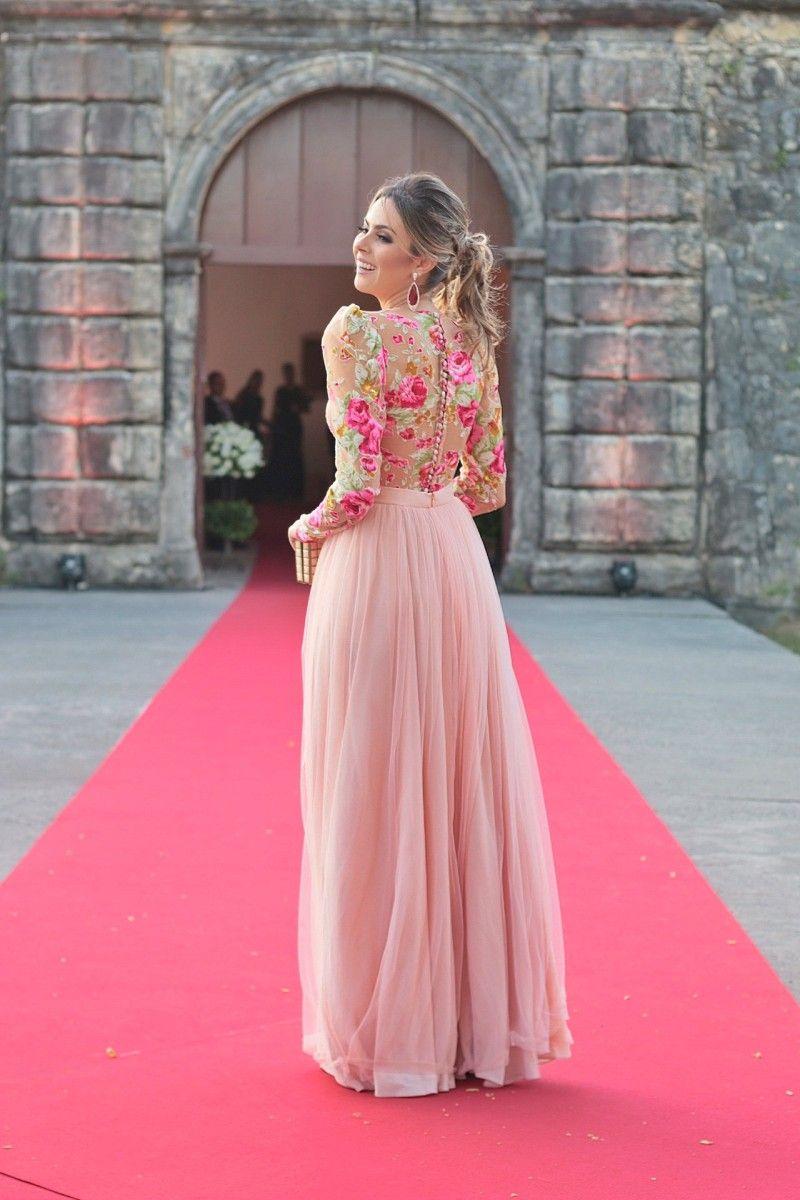 Look do dia: vestido floral para casamento de dia | Vestiditos ...