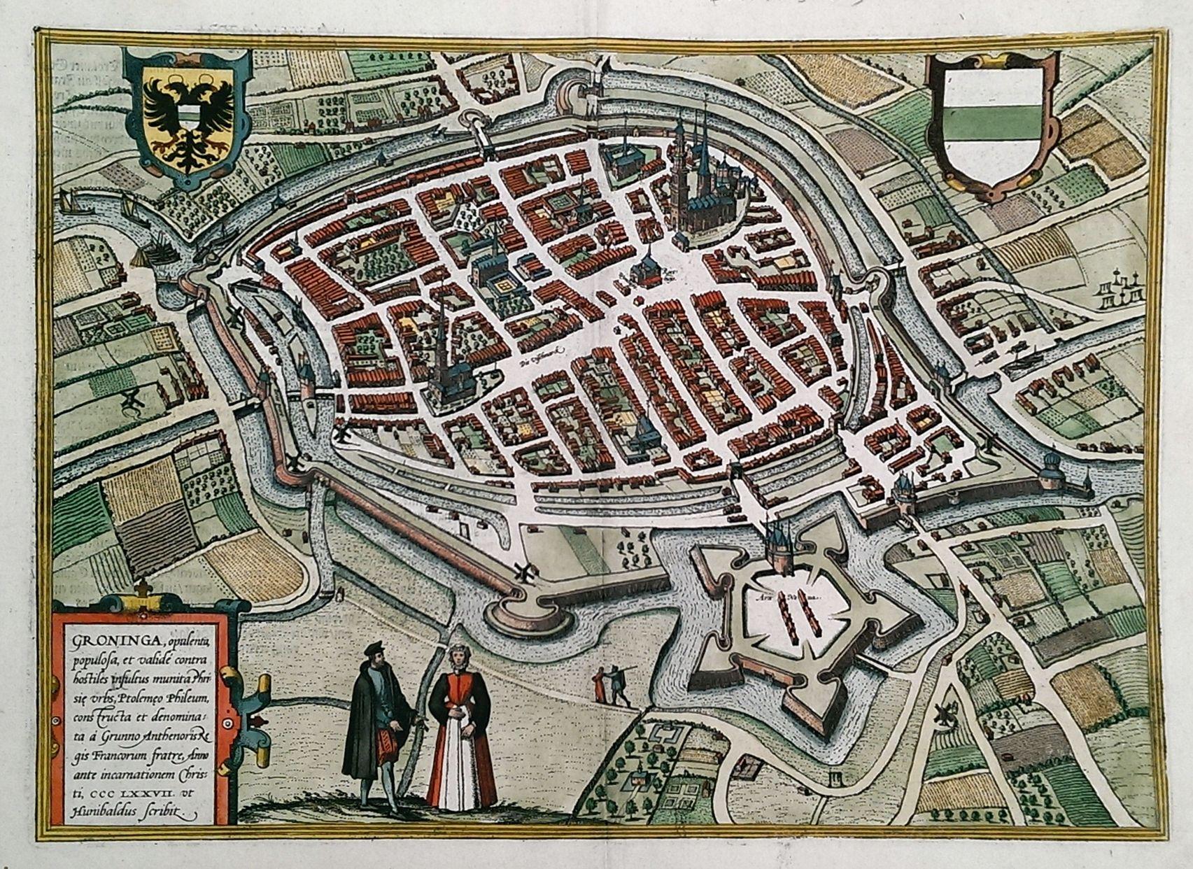 Netherlands Map Of Country%0A Antieke stadsplattegrond van Groningen