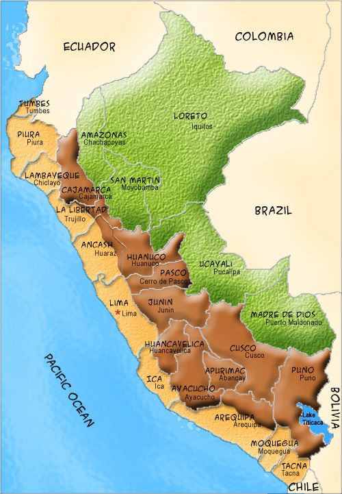 Map Of Peru For Kids