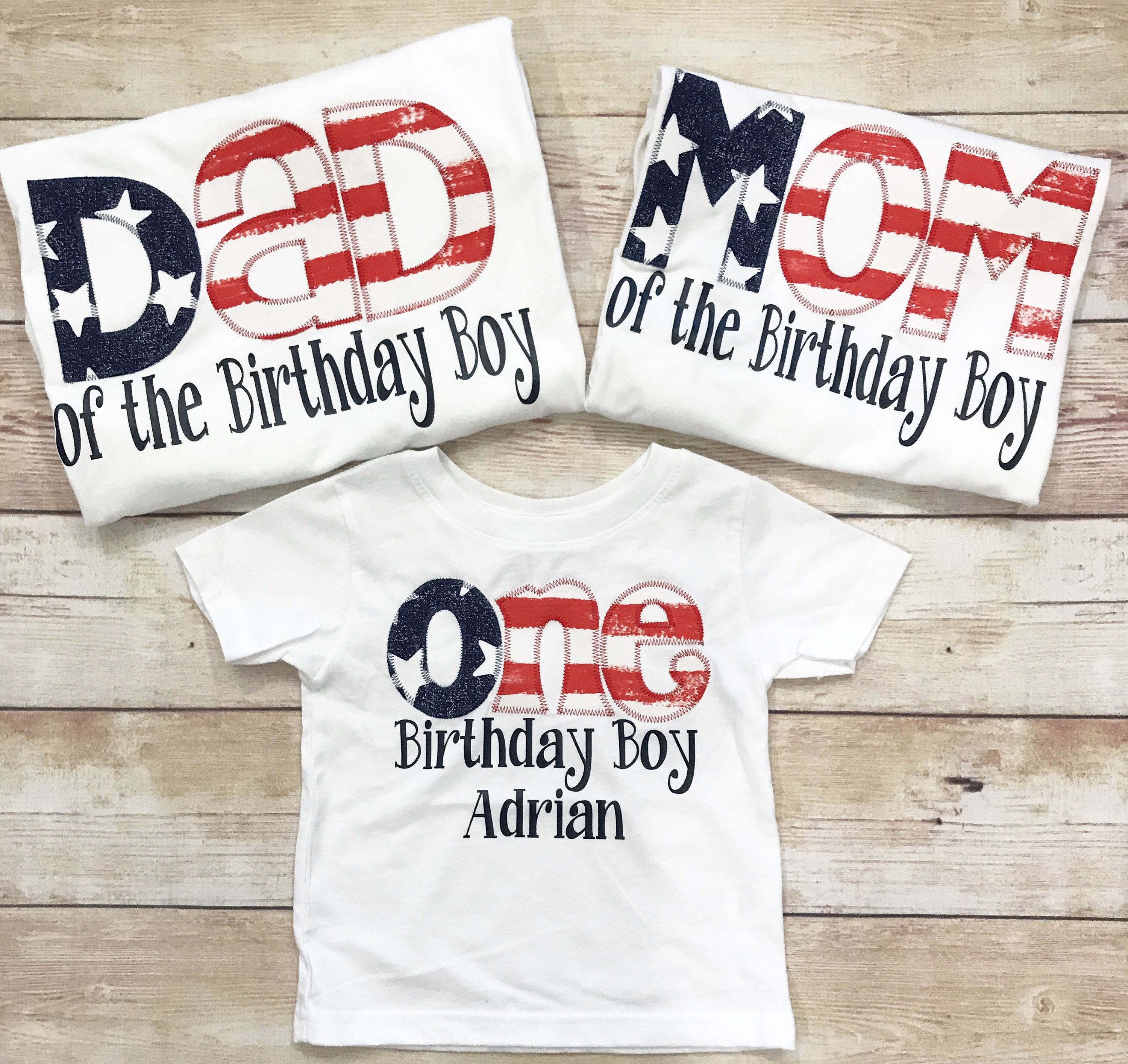 Vintage Americana Flag Tee FAMILY SHIRTS Birthday ONE Shirt Fourth Of July American Age For Boys