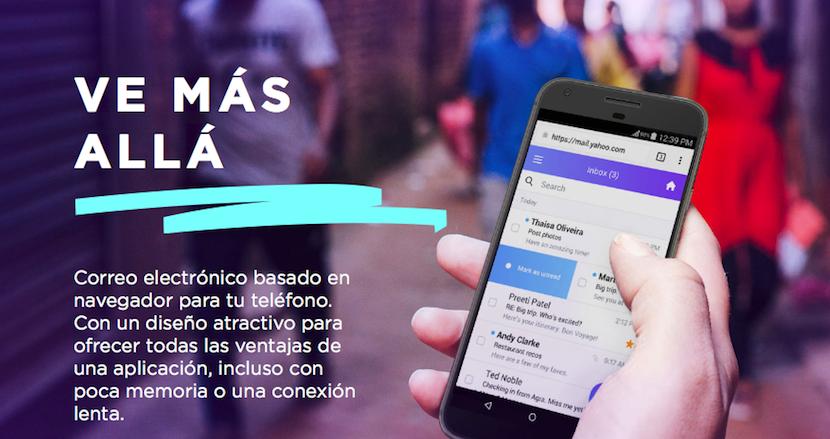 Yahoo Mail lanza una versión web para dispositivos móviles