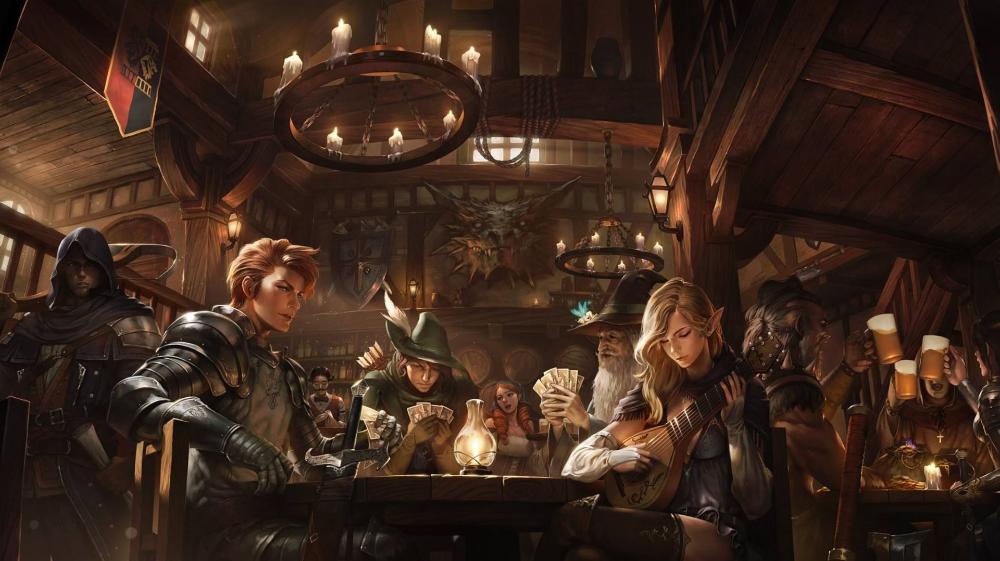 Taverna Medieval Fantasy Tavern Medieval Wallpaper In 2020 Medieval Fantasy Desktop Pictures Desktop Wallpaper