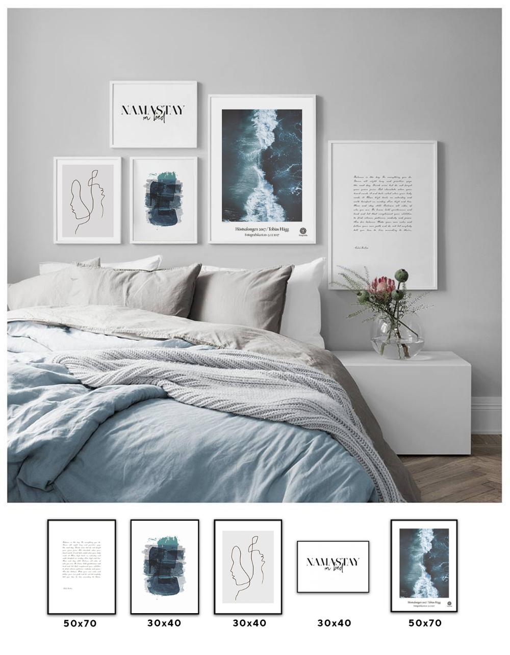 постеры в спальню в скандинавском стиле что стены