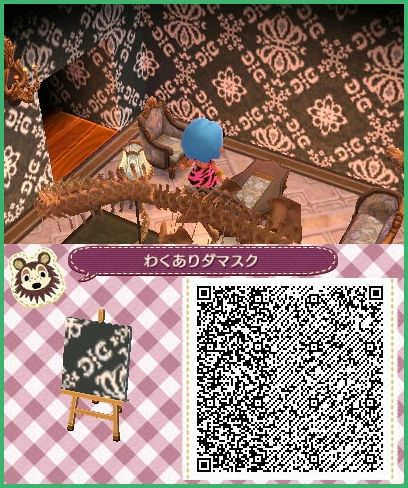 Gothic Victorian Scrolls Wallpaper Pattern Animal Crossing 3ds