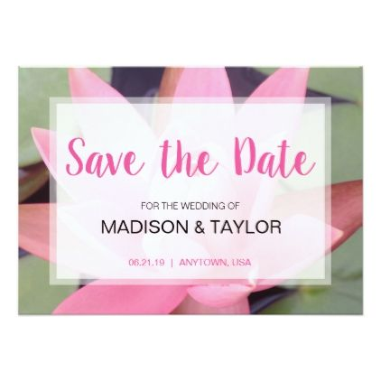 Pink water lily floral zen save the date card water lilies and pink water lily floral zen save the date card stopboris Images