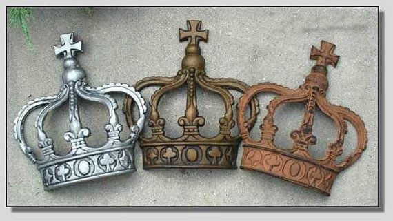 British Royal Cast Iron Crown Wall Decor Art By Thekingsbay