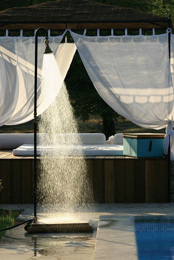 Garten Dusche Himmel Lounge Möbel Sommerspaß Garten Pinterest - ideen gartendusche design erfrischung