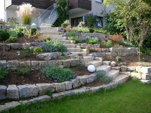 Steinmauer Garten Pinterest Gardens - steinmauer im garten