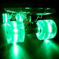 Glow n Zombie Green Deck with Biohazard Flare LED Wheels http   driftingthru 665c40ef384