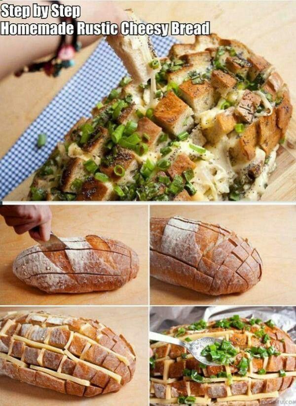 DIY Rustic cheesy bread