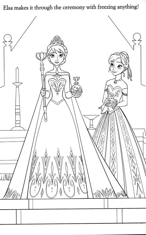 Coronation Of Queen Elsa With Anna