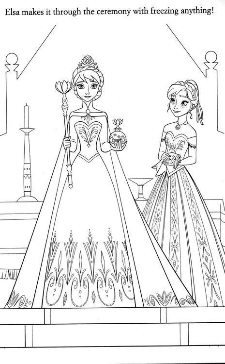 hm coloring pages frozen coronation - photo#8