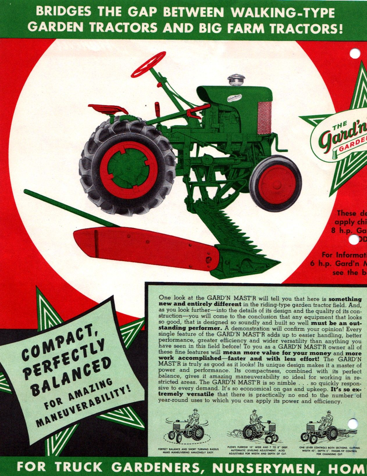 hight resolution of gard n mast r g sales literature page 2 tractor mower lawn tractors