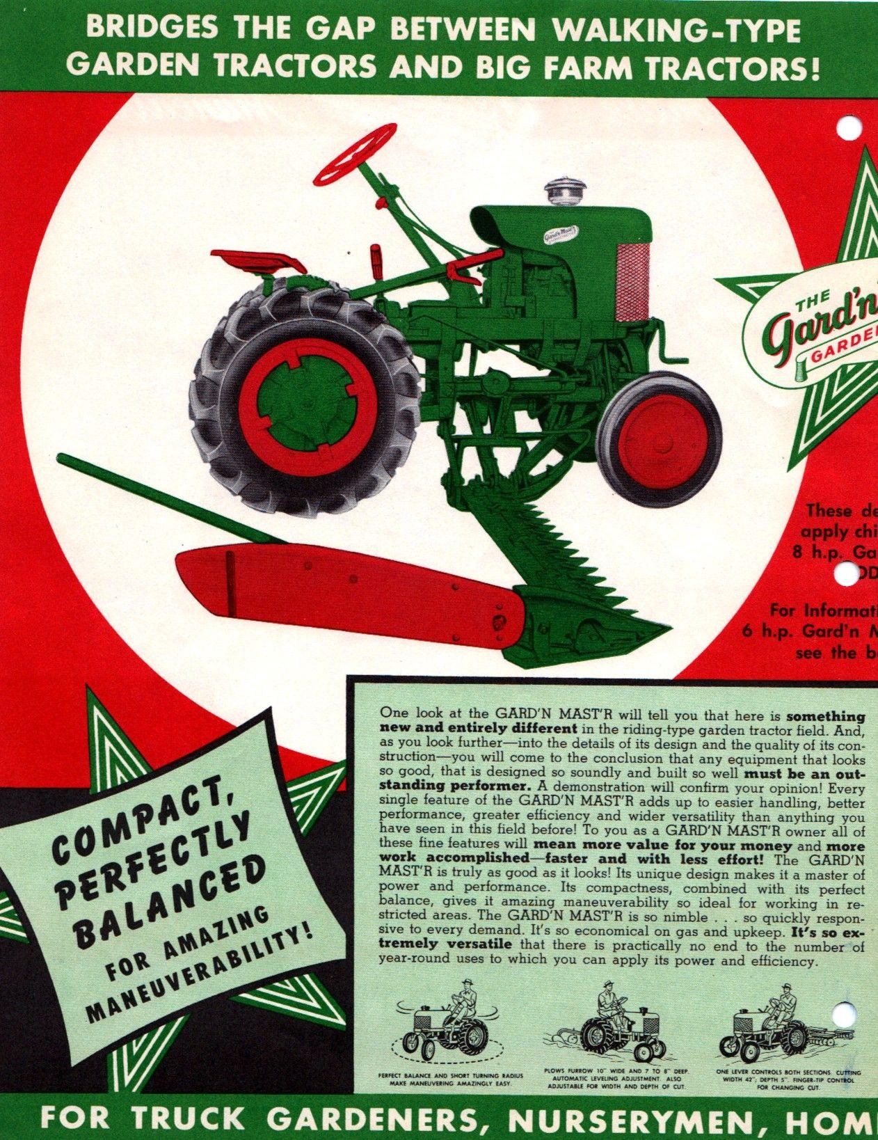 medium resolution of gard n mast r g sales literature page 2 tractor mower lawn tractors