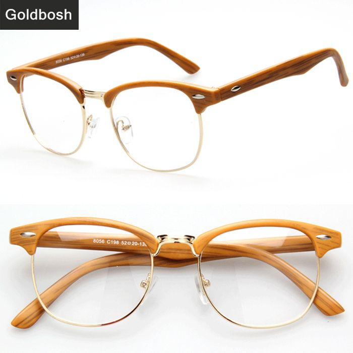 find more accessories information about eyeglasses men brand optical frames woman half rim glasses metal frame