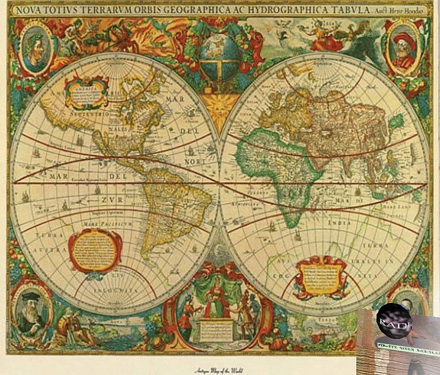 Pqd World Map Rug Or Wall Covering Big Ass Maps Pinterest - Old world map rug