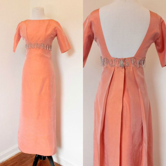 Vintage 1950's Evening Dress// '50s Raw Silk by AllForYouVintage