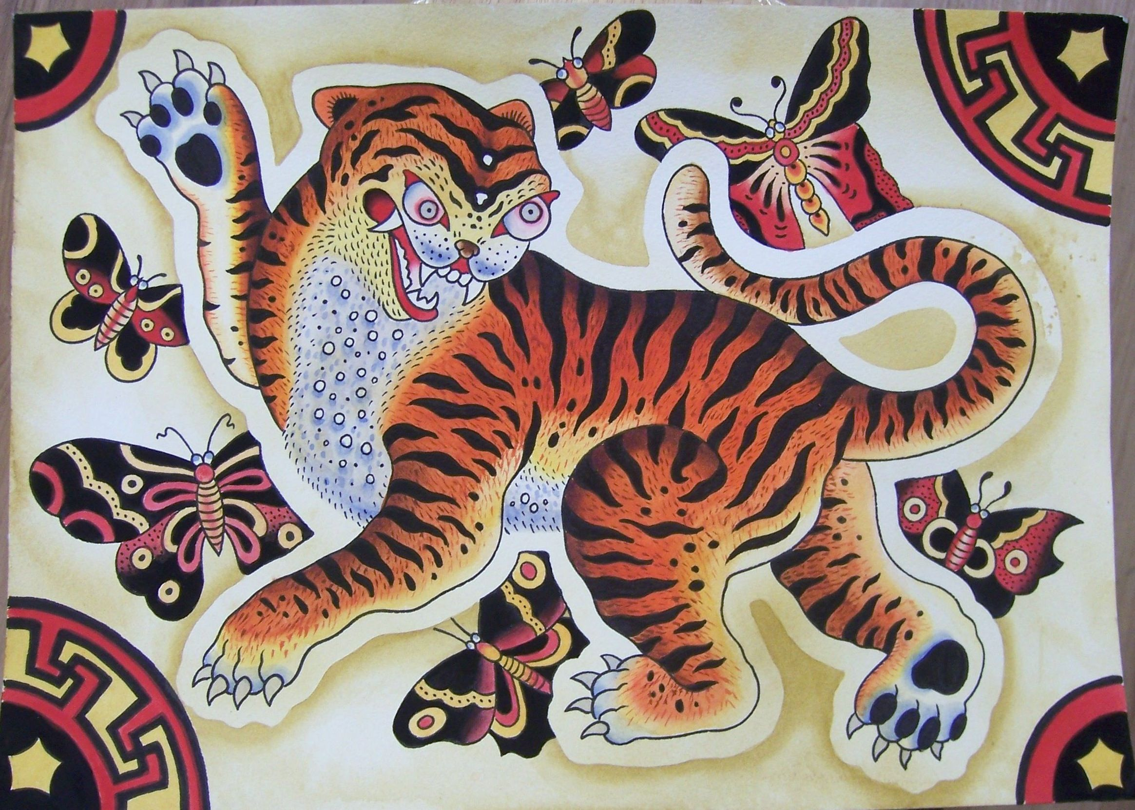 Korean Tiger in folk art | INKSTAINS | Pinterest | Folk ...