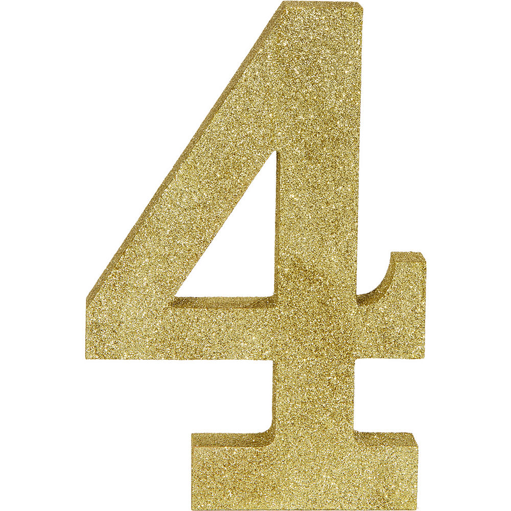 Glitter Gold Number 0 Sign 6in X 9in Gold Number Gold Glitter Gold