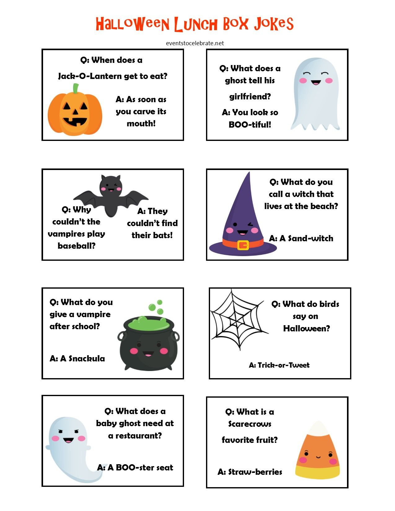 Halloween Lunch Box Jokes That Are Scary Funny Scary Funny