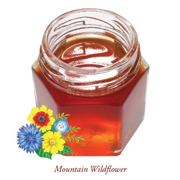 Our regionally-sourced Mountain Wildflower honey has a rich, floral flavor that varies from season to season. This dark honey is preferred by professional mead makers for the flavor and aroma it brings to recipes.