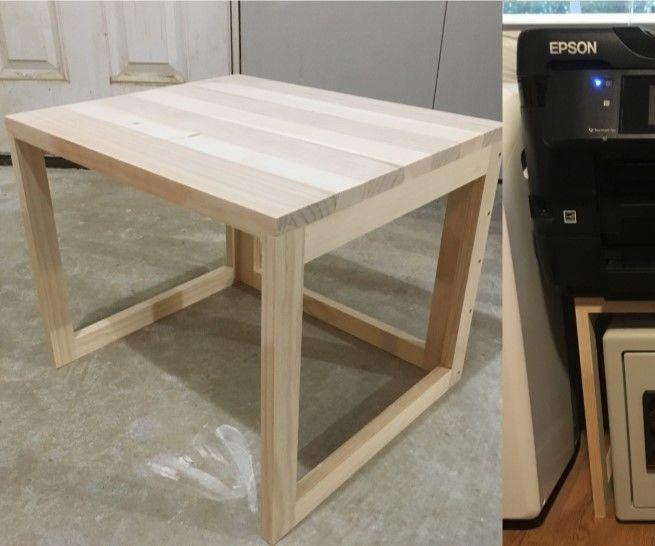 Easy Wooden Printer Stand Universal Shelf Printer Stand Woodworking Stand Woodworking Projects Diy