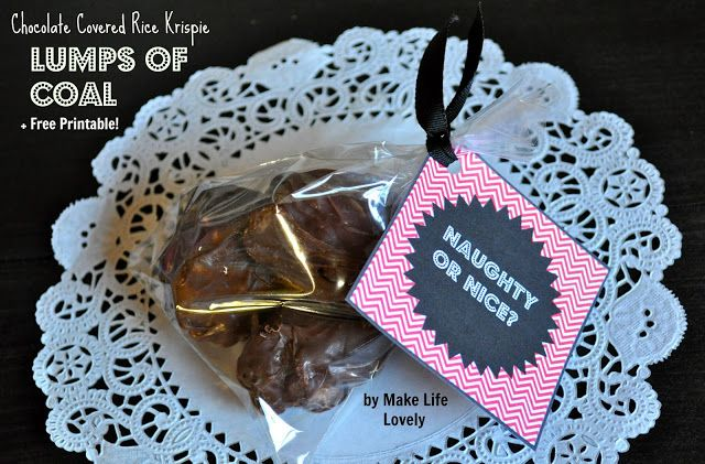 Make Life Lovely: Chocolate Lumps of Coal + Free Printable!