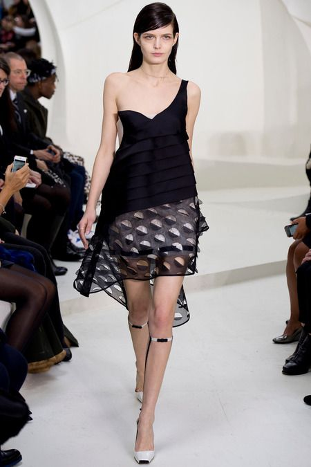 Dior (Raf Simons) Spring 2014- Simons reflect on Dior's love for movement in clothes and creates a collection similar to what he might have designed if he had come into the sixties and beyond.