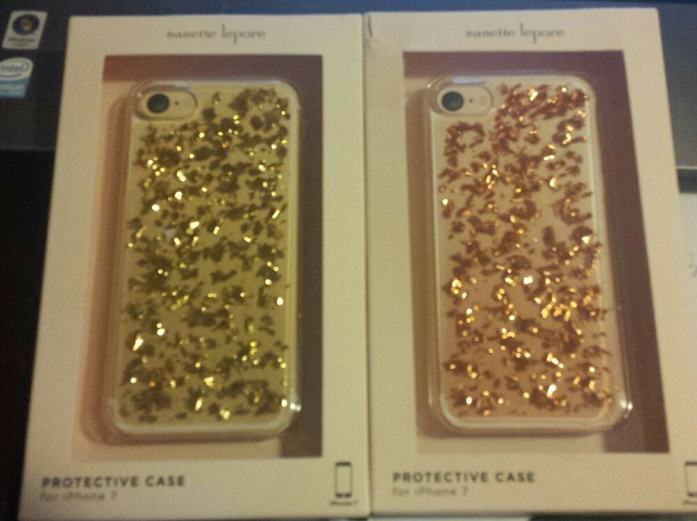 big sale 70644 242fe New Nanette Lepore iPhone 7 Protective Phone Case Glitter Bling ...