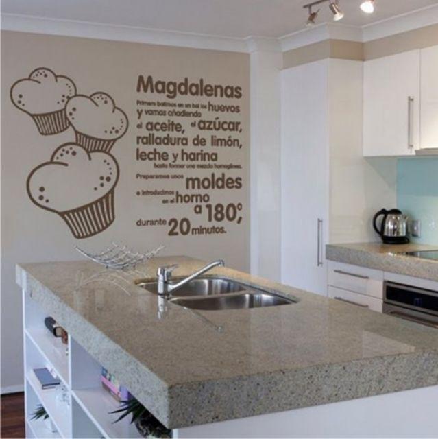 Vinilo para cocina decoracion pinterest wall sticker - Decoracion paredes cocina ...