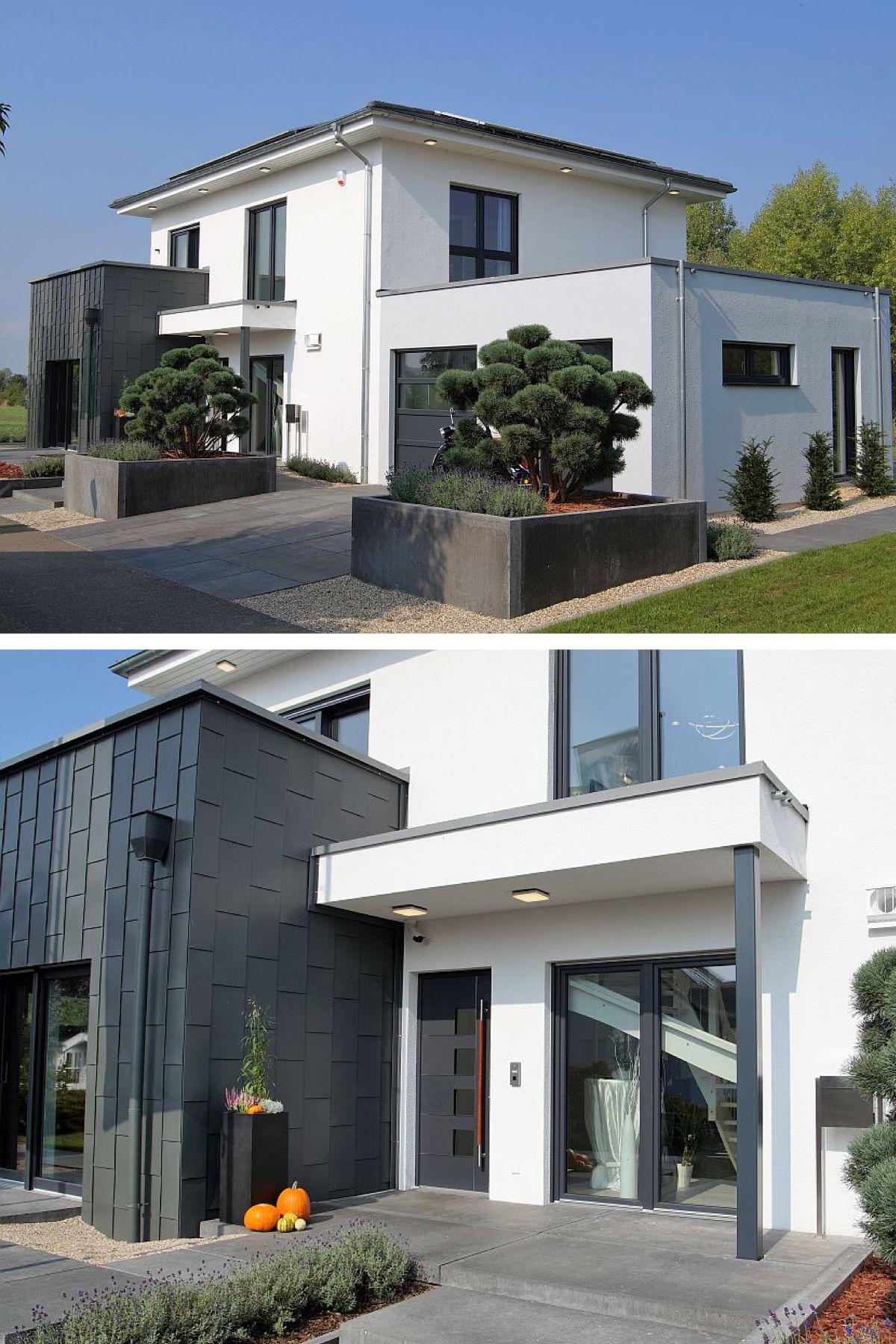 Einfamilienhaus modern mit Garage, Büro Anbau & Walmdach