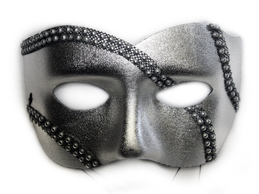 Half Masks To Decorate Fascinating Silver Masquerade Mask For Men #silver #mask #masquerade 2018
