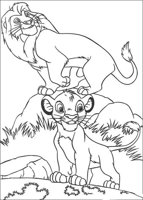 Dibujos para Colorear El Rey Leon 7 | Beso | Pinterest | Coloring ...