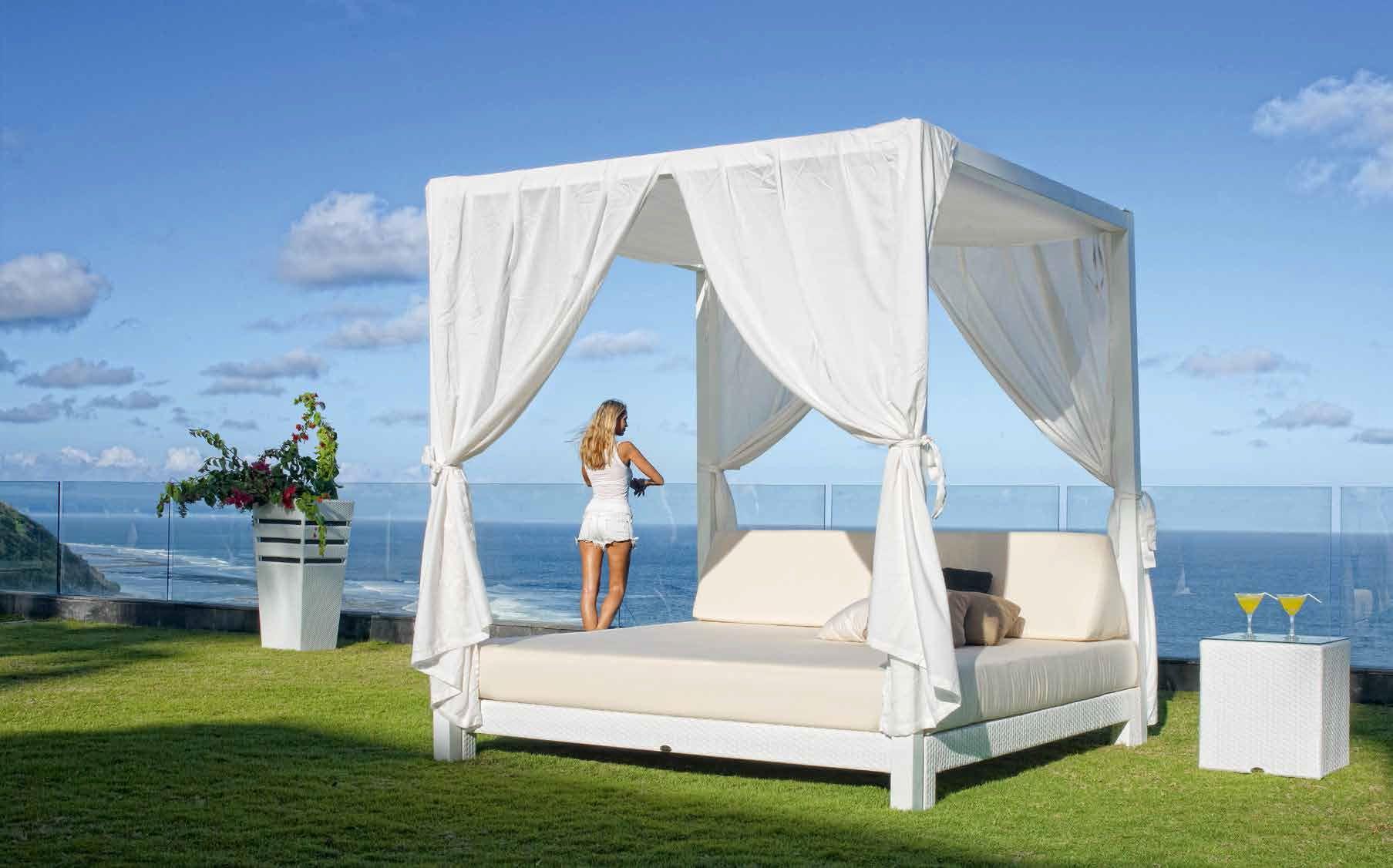 Patio furniture balinese bed cama balinesa mobiliario for Cama balinesa