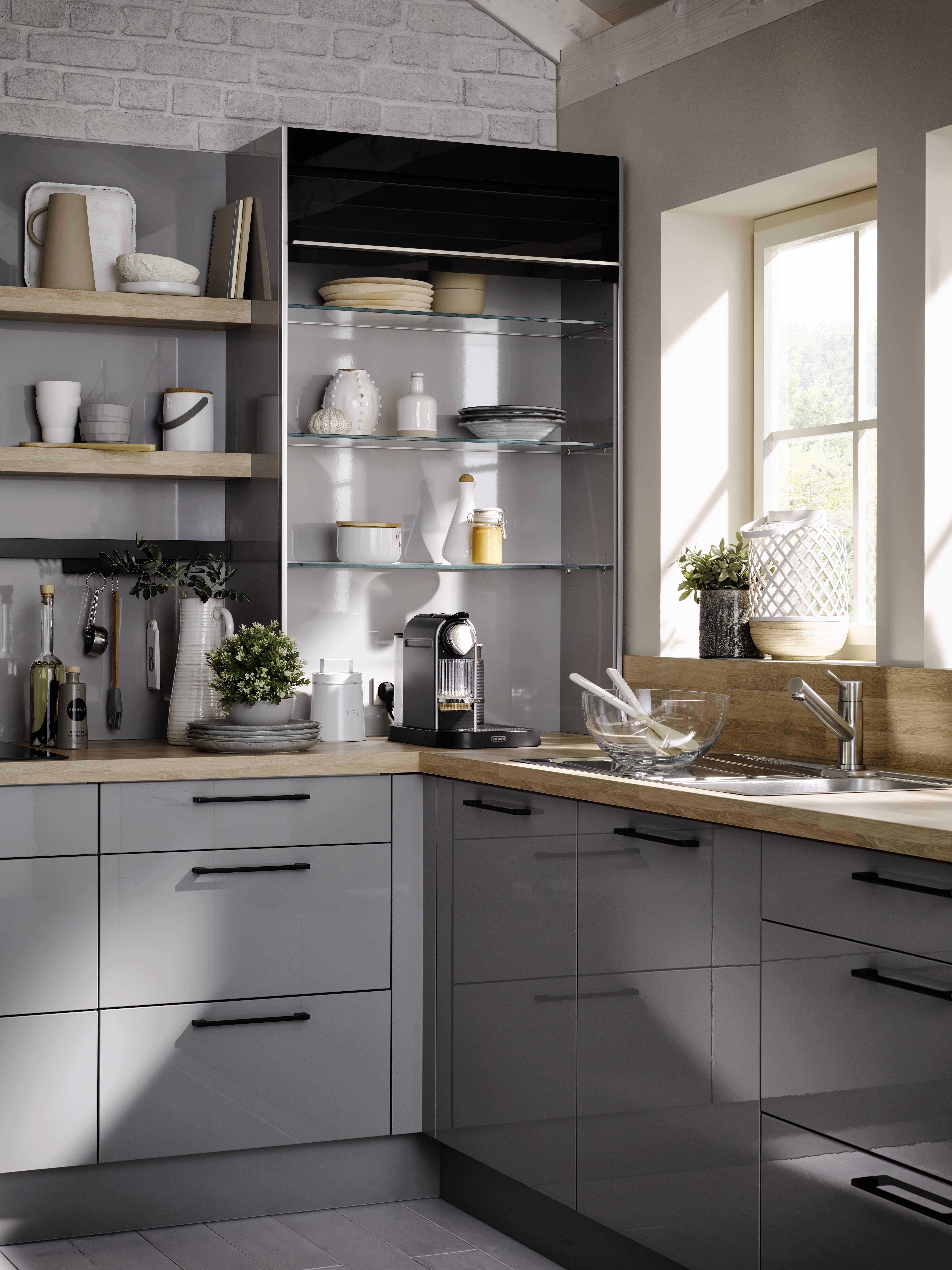 meuble haut a volet roulant cuisine studio deco petite cuisine idee deco cuisine