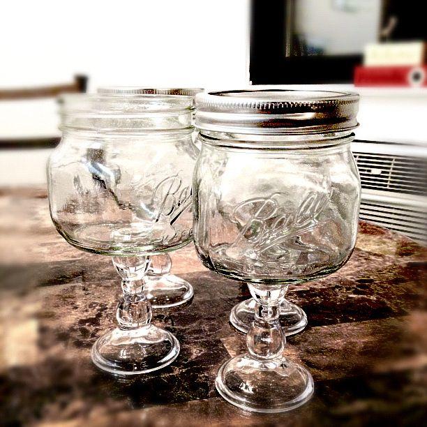 Redneck Wine Glasses DIY Find Candle Stick Holders