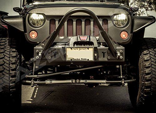 07-15 Razer Auto Jeep JK Wrangler Skull Grille Matte Satin Black Replacement Grille Rubicon Sahara Sport