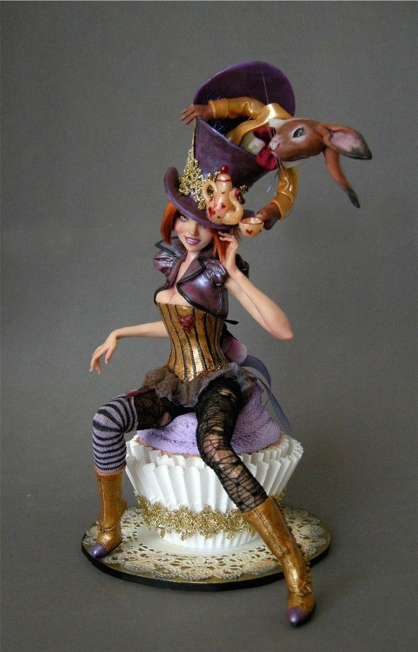 *POLYMER CLAY ~ MAD HATTER DIVA 1 by ~wingdthing on deviantART