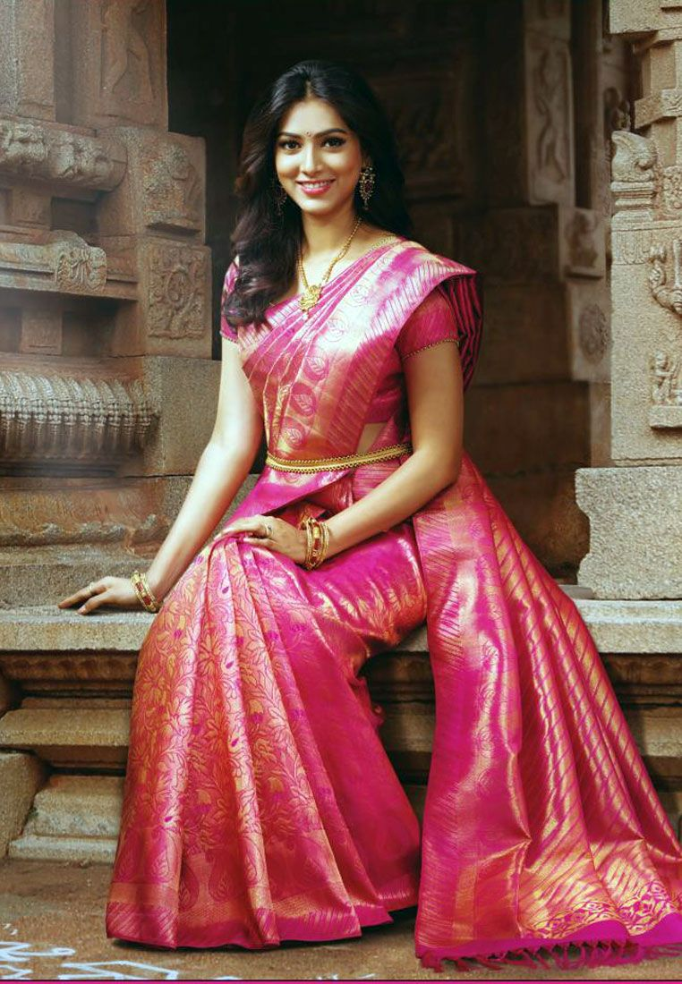 Buy online pure kanchipuram silk sarees at best in India at amazon ...