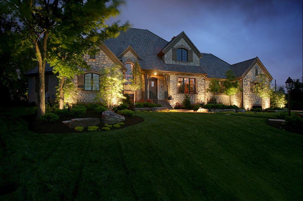 Outdoor Home Lighting Cool چراغ دفنی #نورپردازی #نورپردازی_ساختمان #نمای_ساختمان