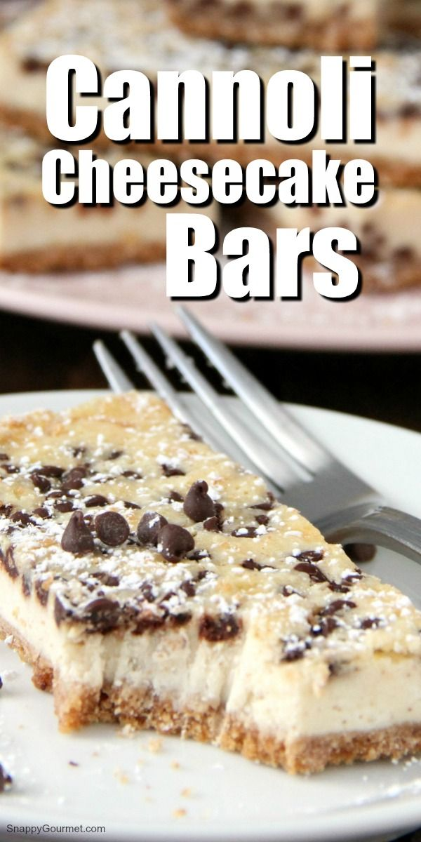 Cannoli Cheesecake Bars