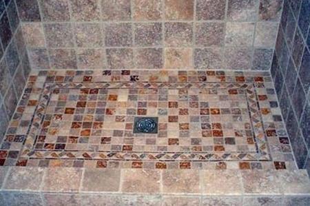 Pavimento doccia a mosaico come realizzare un doccia in muratura idee per il bagno pinterest - Bagno muratura mosaico ...