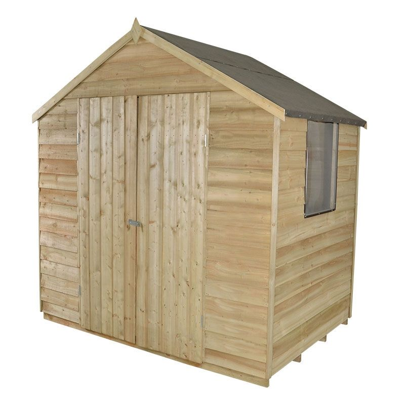 7x5 overlap apex shed - Garden Sheds 7x5